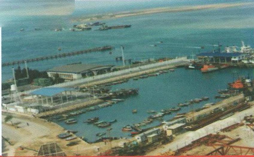 جانمایی اسکله صیادی صلح آباد بند بوشهر